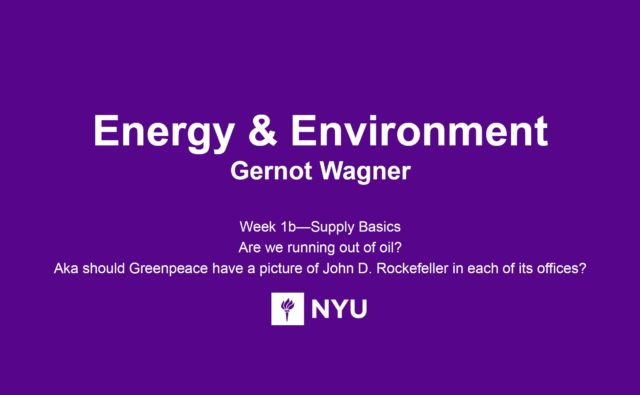 NYU Stern Energy and Environment Spring 2016