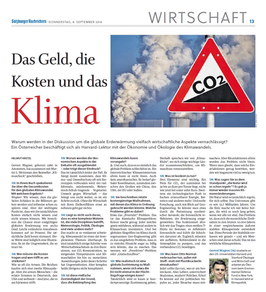 Kretzl Salzburger Nachrichten S13 160908 Klimaschock